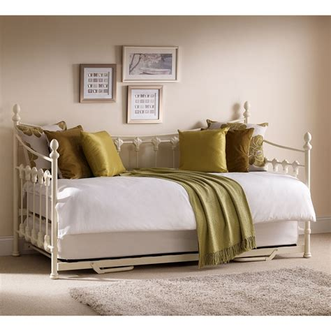 Metal Daybed Frame Metal Frame Daybed With Underbed Trundle Single 3ft