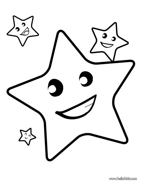 coloring page of a large star star coloring pages free large images