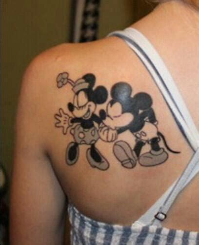 minnie and mickey tattoos mickey mouse tattoos ideas center