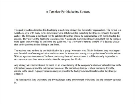 free marketing strategy template 32 free marketing strategy planning template pdf ppt