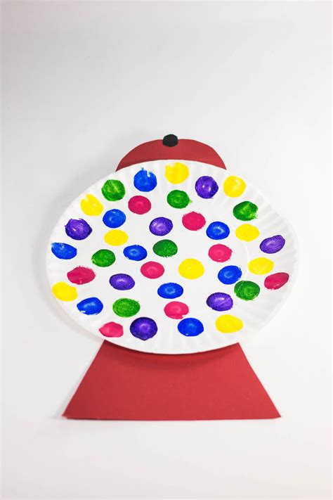 How To Make A Paper Gumball Machine - adorable gumball machine craft allfreekidscrafts