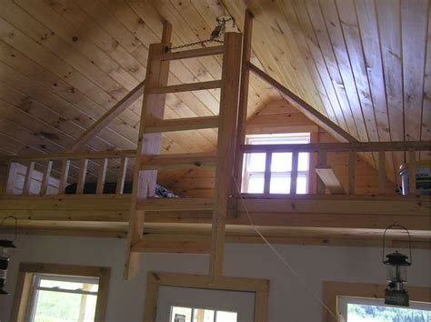 loft and folding stairs tiny house inspirations pinterest cabin small cabins and ladder