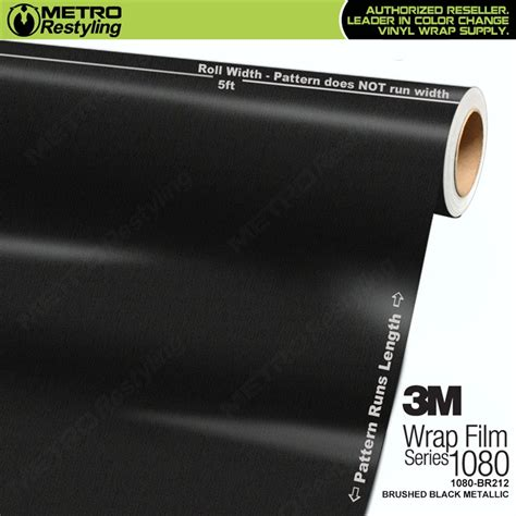 3m metallic vinyl 3m scotchprint series 1080 br212 brushed black metallic