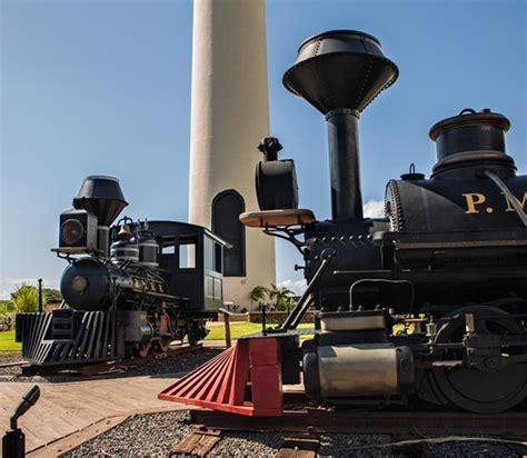 pioneer mill smokestack and locomotives