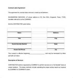 Labor Agreement Template labor agreement template short form contract contract agreement