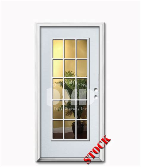 15 Lite Clear Glass Steel Exterior Door 6 8 Door And 15 Lite Exterior Door