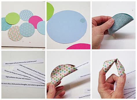paper fortune cookie messages make fortune cookies from paper