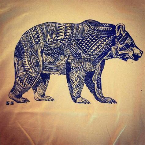 Pattern Animal Tattoo | aztec bear tattoos pinterest the shape patterns