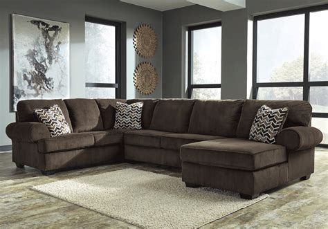 Jinllingsly Chocolate 3pc Laf Sofa Sectional Lexington 3pc Sectional Sofa