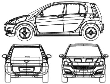 car section smart car blueprints smart car forums