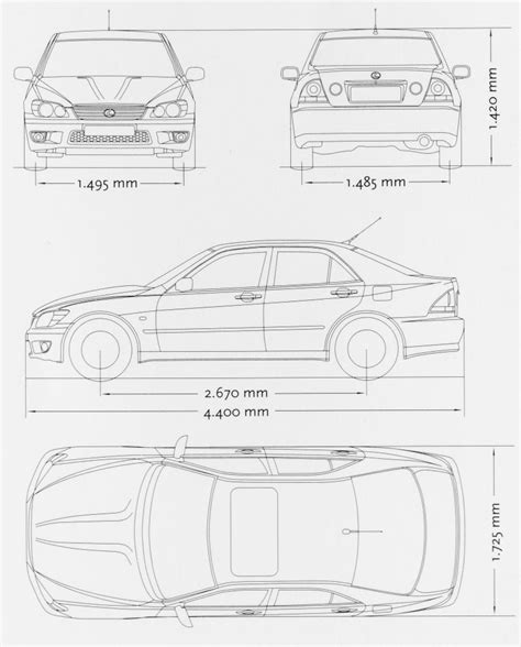 lexus is300 drawing lexus is300 blueprint free blueprint for 3d