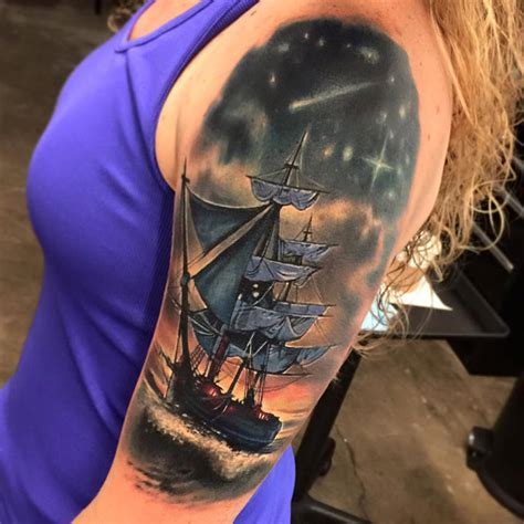 battleship tattoo designs pirate ship sleeve best design ideas