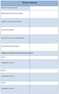 resource guide template manual template for resource exle of resource manual