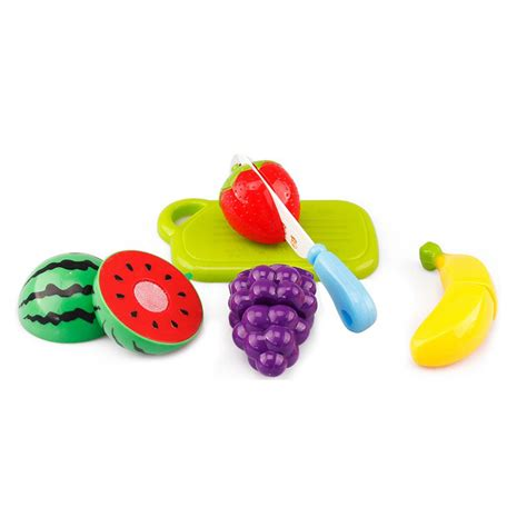 Buah Dan Sayur Potong19 Pcs mainan anak miniatur buah dan sayur 6 pcs multi color
