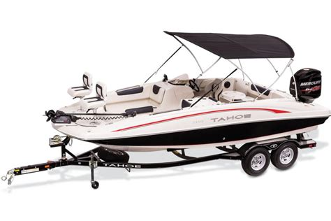 deck boat with fishing package tahoe boats deck boats 2016 2150 outboard photo gallery