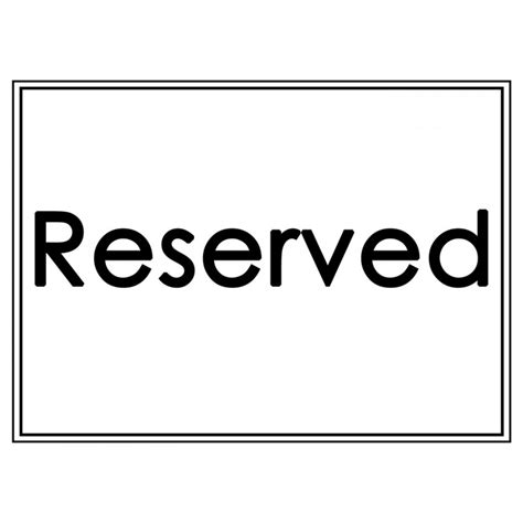 reserved sign template word reserved sign template word 28 images reserved sign