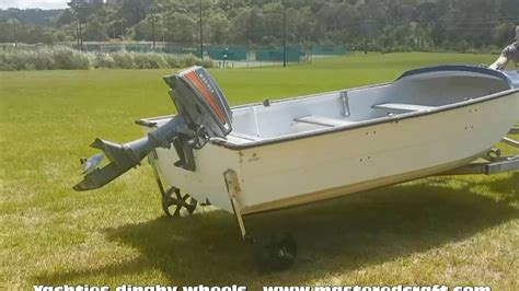 dinghy boat r next level boat dinghy wheels yachties youtube
