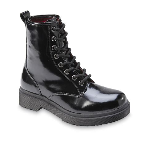 bongo s oz black chunky combat boot