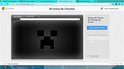 theme google chrome minecraft 191 tenes google chrome 161 unos temas gamers creados por mi