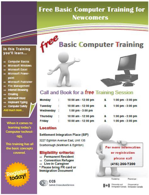 Computer Training Flyer