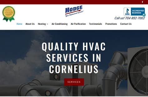 lake norman heating air conditioning our new website is live hodge heating air