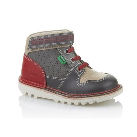 Kickers Boot Safety Grey kickers sneakerize hi infant grey modern sneaker boot babies from jelly egg uk