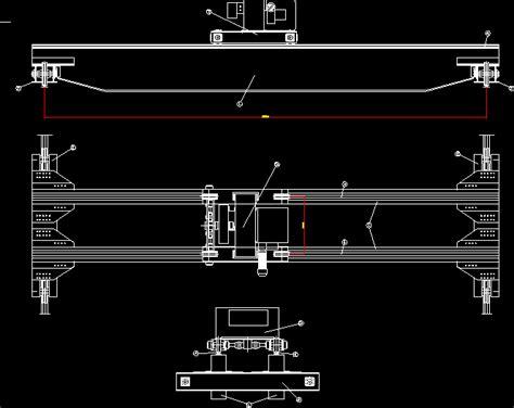 bridge crane dwg block  autocad designs cad