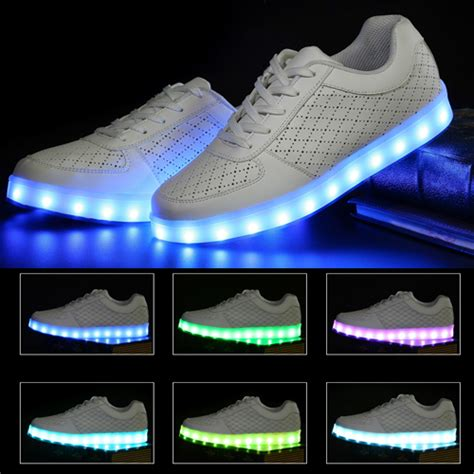 neon light up sneakers light up shoes for adults women led men glowing neon shoes