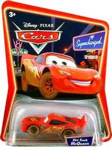Lightning Mcqueen Orange Car Disney Cars Supercharged Dirt Track Lightning Mcqueen