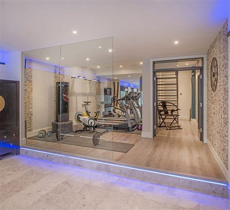 basement gym ideas home contemporary with mirrored wall