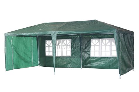 Waterproof Awning by Waterproof Green 3m X 6m Outdoor Garden Gazebo Tent