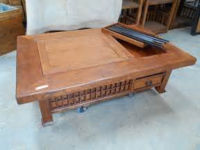 Hibachi Coffee Table As New Japanese Keyaki Wood Naga Hibachi Coffee Table With Copper Fitting 2 Aud 1 495 00