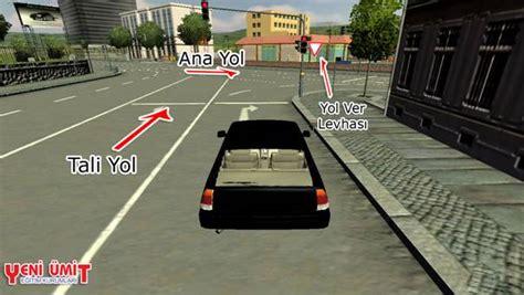 tali yol nedir trafik kurallari trafik isaretleri
