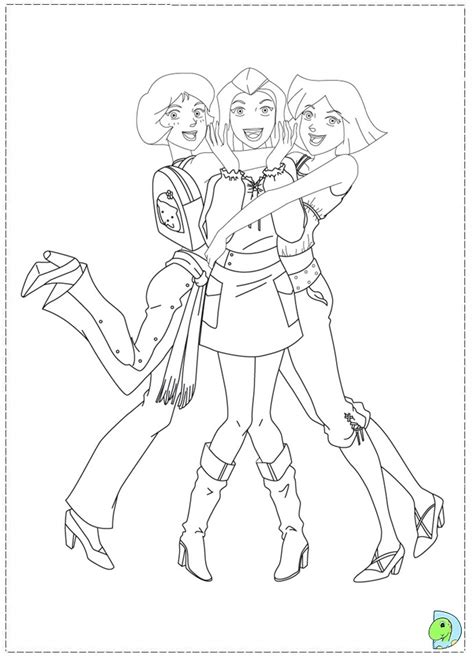 totally spies coloring page dinokids org