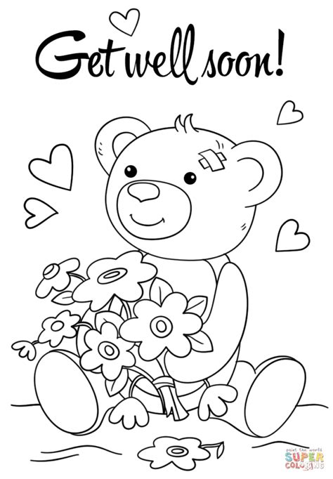 free printable coloring pages get well soon get well soon coloring pages snap cara org