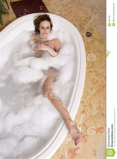 sexy in bathtub woman taking bubble bath royalty free stock images image 7681189