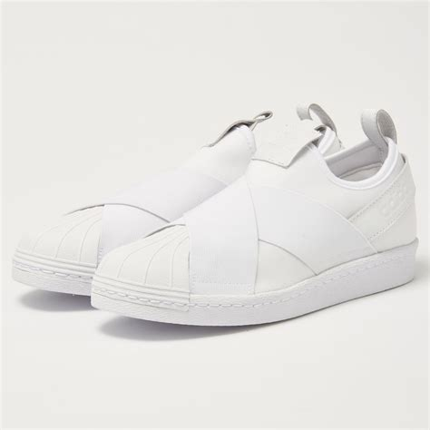 Adidas Superstar Slipon Mesh White adidas superstar slipon white sneakers stuarts usa