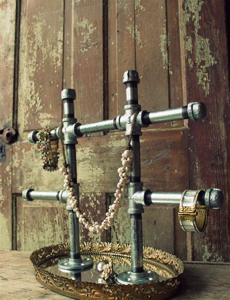 how to make jewelry stands and displays industrial chic jewelry display stand large