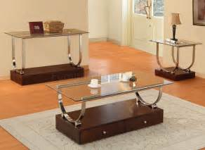 Clear glass top modern coffee table w wood box base amp drawers hect