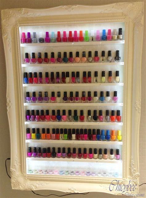 hair salon display cabinets 40 best nail polish storage custom made images on
