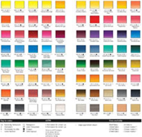 Pantone Color Pallete winsor amp newton artists acrylic