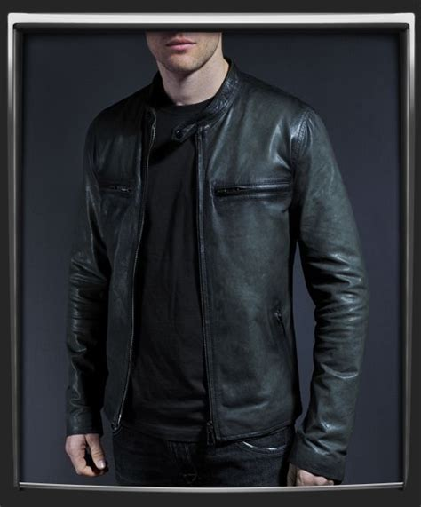 Motorrad Classic Look by Cafe Racer Style Motorcycle Leather Jacket With A Classic