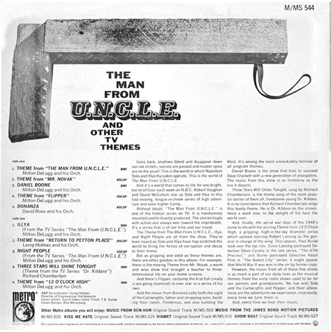 theme song man from uncle spock s record round up the man from u n c l e and other