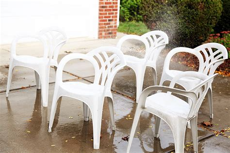 hometalk makeover idea for plain white plastic chairs