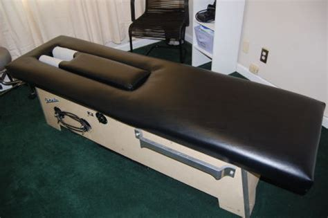used anatomotor roller table chiropractic table