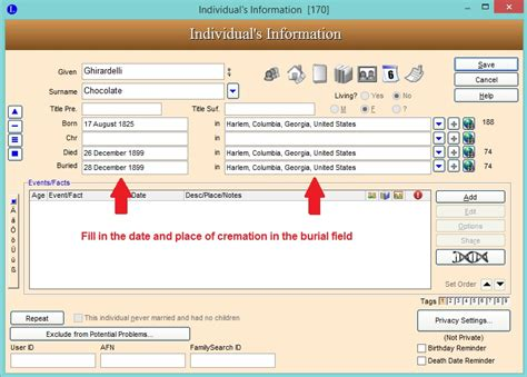 online tutorial www verizon com quickguides family view changing the burial label to cremated