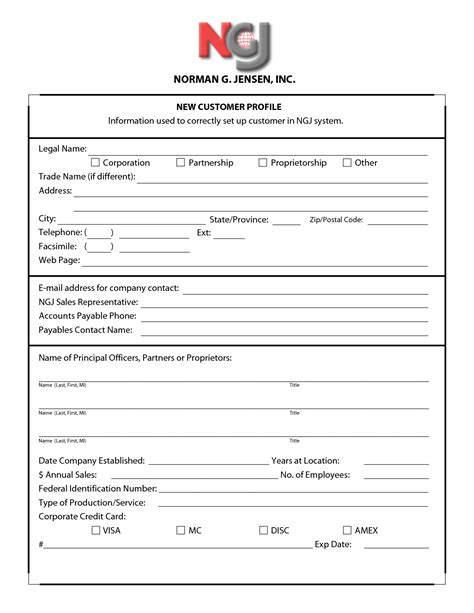 profile form template 29 images of customer profile form template infovia net