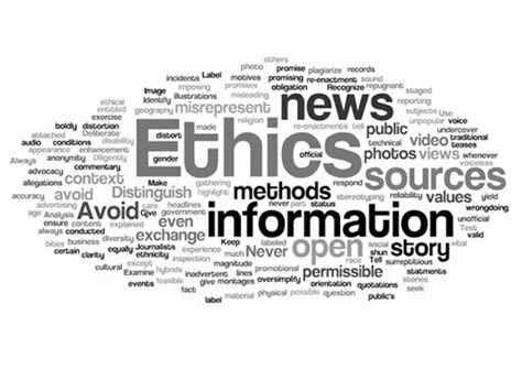 Journalism Ethics by Best Ethics Policy Is Useless If It Sits On A Shelf
