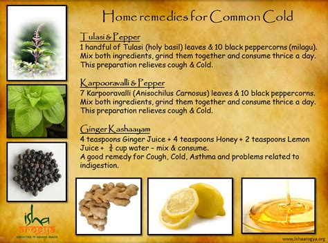home remedies for the common cold the isha