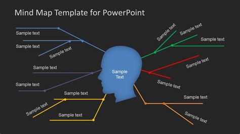 map templates for powerpoint simple mind map template for powerpoint slidemodel